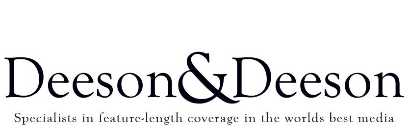 Deeson and Deeson specialists in feature length coverage in the worlds best media